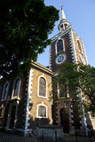 St Mary Kerk in Rotherhithe, Londen. Stock Foto's