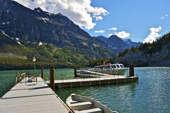 St Mary Lake Cruises Royalty Free Stock Photos