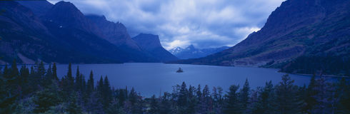St. Mary Lake, Glacier National Park, Montana Stock Photos