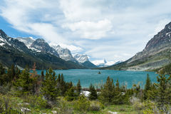 St. Mary Lake Stock Photo
