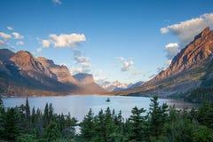 St. Mary Lake, Glacier national park, MT Stock Image