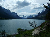 St Mary Lake, Incoming Storm Royalty Free Stock Images