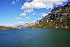 St Mary Lake Montana. Glacier National Park. Montana Photo Collection. Summer at the Lake Royalty Free Stock Photo