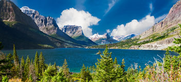 St. Mary Lake Panorama Stock Photography