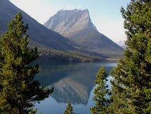 St Mary Lake Reflection Stock Image
