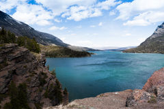 St. Mary Lake  vista Royalty Free Stock Image