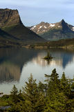 St Mary Lake with Wild Goose Island Royalty Free Stock Photography