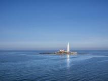 St Mary latarni morskiej Whitley zatoka Anglia Zdjęcia Royalty Free