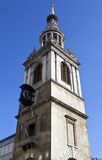 St Mary le Bow in Londen Stock Foto