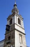 St Mary le Encurvamento em Londres Foto de Stock