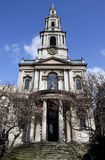St Mary Le Strand in London Stockbild