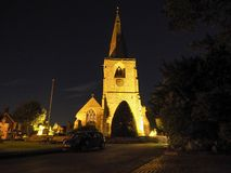 St Mary Magdalene church in Tanworth in Arden at night Stock Photography