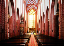 St. Mary Magdalene Gothic Church interior Stock Image