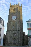 St Mary Magdalene. In Launceston is the most impressive and beautiful late medieval church in Cornwall, featuring superb carved detail on the exterior and a royalty free stock images