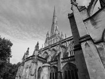 St Mary Redcliffe in Bristol in black and white Royalty Free Stock Image