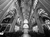 St Mary Redcliffe in Bristol in black and white Stock Image