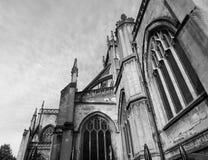 St Mary Redcliffe dans Bristol en noir et blanc Photographie stock libre de droits