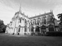 St Mary Redcliffe dans Bristol en noir et blanc Image stock