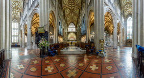 St Mary Redcliffe Indoor Panorama 180 Royalty Free Stock Photos