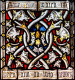 St Mary Redcliffe Stained Glass Close acima de F Imagem de Stock Royalty Free
