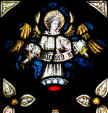 St Mary Redcliffe Stained Glass Close acima de H imagens de stock royalty free
