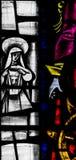 St. Mary Redcliffe Stained Glass Close herauf C lizenzfreie stockfotos