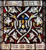 St. Mary Redcliffe Stained Glass Close herauf F lizenzfreies stockbild