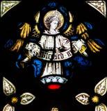 St Mary Redcliffe Stained Glass Close sulla H immagini stock libere da diritti