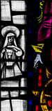 St Mary Redcliffe Stained Glass Close upp C Royaltyfria Foton
