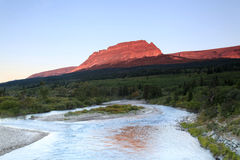 ST Mary River at Sunrise, Glacier National Park Royalty Free Stock Images