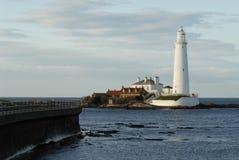 st mary s маяка Стоковые Фотографии RF
