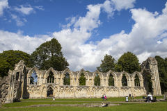 St. Mary's Abbey Ruins in York stock photography