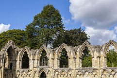 St. Mary's Abbey Ruins in York Royalty Free Stock Images