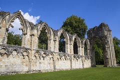 St. Mary's Abbey Ruins in York Stock Images