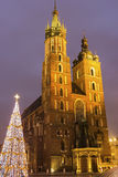 St. Mary's Basilica in Cracow in Poland Stock Images