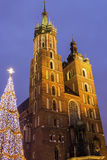 St. Mary's Basilica in Cracow in Poland Royalty Free Stock Photography