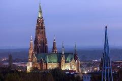 St. Mary`s Basilica in Dabrowa Gornicza. Dabrowa Gornicza, Slaskie, Poland Royalty Free Stock Photos