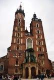 St. Mary`s Basilica Krakow Royalty Free Stock Photography