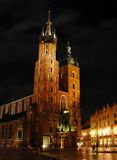St. Mary's Basilica, Krakow, Poland Royalty Free Stock Photography