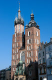 St. Mary's Basilica in Krakow, Poland Stock Images