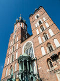 St. Mary's basilica in Krakow Stock Images
