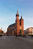St. Mary's Basilica, Krakow Poland Royalty Free Stock Images