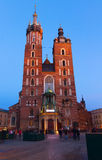 St. Mary's Basilica, Krakow Poland Royalty Free Stock Images