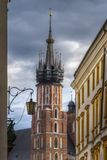 St. Mary`s Basilica, Krakow, Poland Stock Images