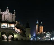 St. Mary's basilica at night stock photo