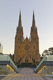 St Mary's Cathedral. One of the oldest Catholic church located in New South Wales Sydney, Australia Royalty Free Stock Photography