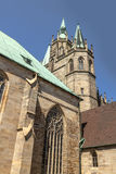St Mary's Cathedral on Domberg hill in Erfurt, Germany.  Royalty Free Stock Image