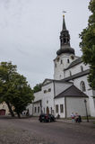 St Mary`s Cathedral Dome Church on Toompea Hill in old Tallinn Stock Photo