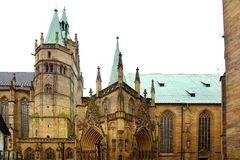 St Mary's Cathedral. Erfurt. St Mary's Catholic Cathedral. Erfurt, Germany royalty free stock photo