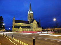 St. Mary's Cathedral. In Killarney Co. Kerry Ireland at dusk time stock photos
